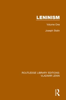 Leninism: Volume One, 1st Edition (Paperback) book cover