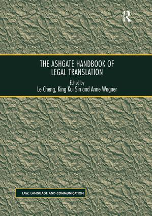 The Ashgate Handbook of Legal Translation: 1st Edition (Paperback) book cover