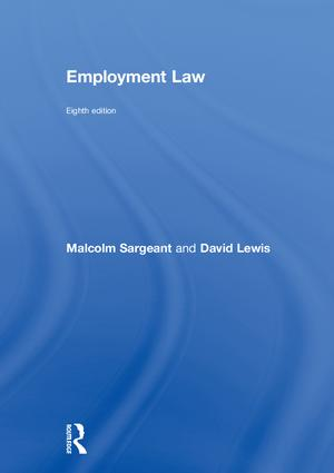 Employment Law: Eighth edition, 1st Edition (Hardback) book cover