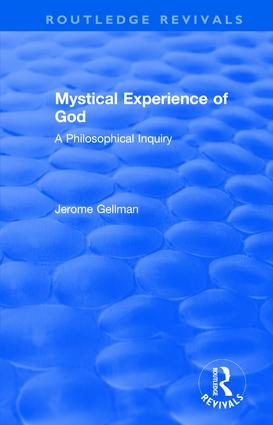Mystical Experience of God: A Philosophical Inquiry book cover
