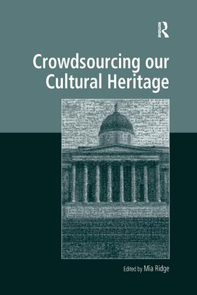Crowdsourcing our Cultural Heritage book cover