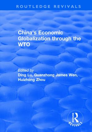China's Economic Globalization through the WTO: 1st Edition (Hardback) book cover