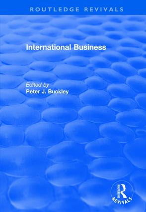 International Business: 1st Edition (Hardback) book cover