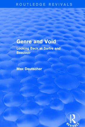 Revival: Genre and Void (2003): Looking Back at Sartre and Beauvoir book cover
