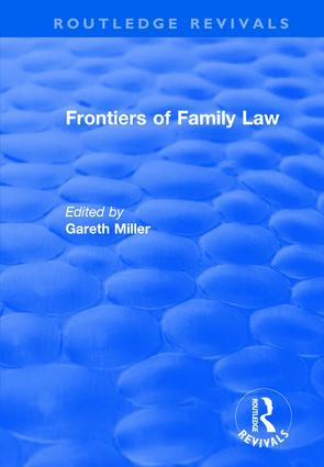 Frontiers of Family Law: 1st Edition (Hardback) book cover