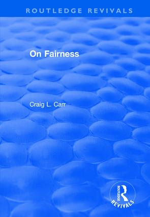 On Fairness book cover