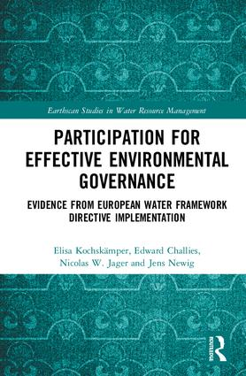 Participation for Effective Environmental Governance: Evidence from European Water Framework Directive Implementation book cover