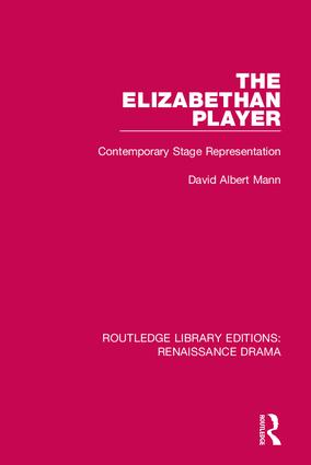 Routledge Library Editions: Renaissance Drama: 1st Edition (Hardback) book cover