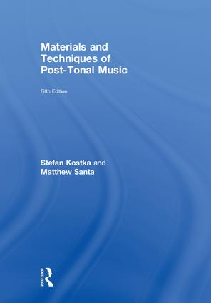 Materials and Techniques of Post-Tonal Music book cover