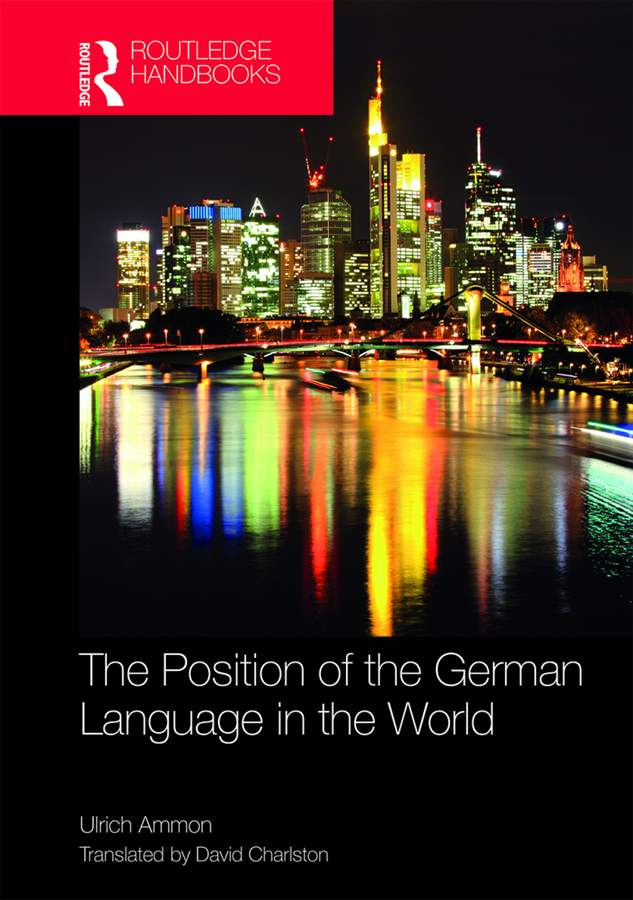 The Position of the German Language in the World book cover