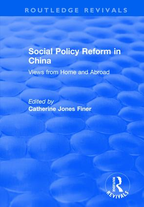 Social Policy Reform in China: Views from Home and Abroad (Hardback) book cover