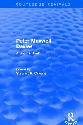 Revival: Peter Maxwell Davies: A Source Book (2002)