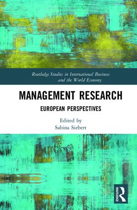 Management Research: European Perspectives book cover