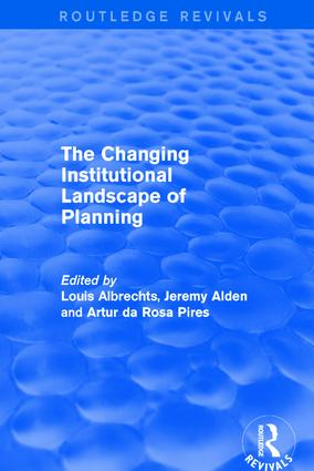 Revival: The Changing Institutional Landscape of Planning (2001)