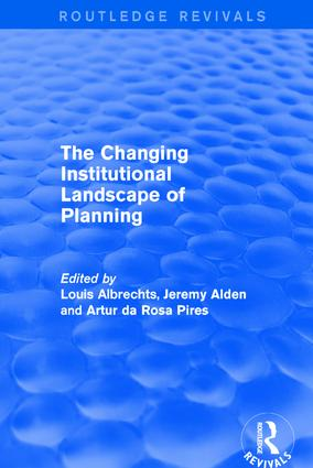 Revival: The Changing Institutional Landscape of Planning (2001): 1st Edition (Hardback) book cover