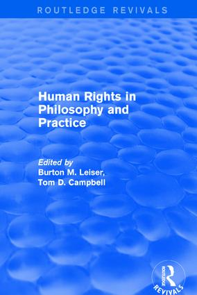 Revival: Human Rights in Philosophy and Practice (2001): 1st Edition (Hardback) book cover