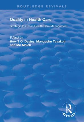 Quality in Health Care: Strategic Issues in Health Care Management, 1st Edition (Hardback) book cover