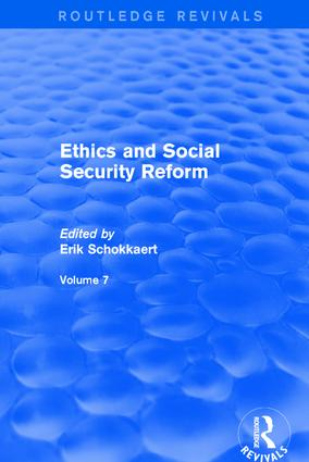 Ethics and Social Security Reform: 1st Edition (Hardback) book cover