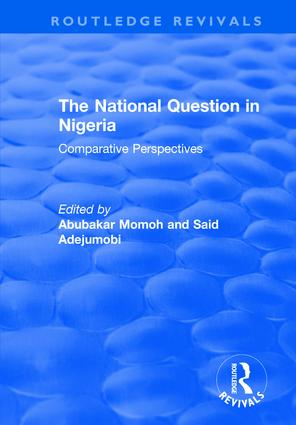 The National Question in Nigeria: Comparative Perspectives book cover