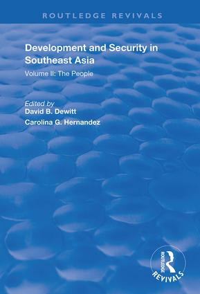 Development and Security in Southeast Asia: Volume I: The Environment book cover
