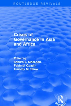 Crises of Governance in Asia and Africa: 1st Edition (Hardback) book cover