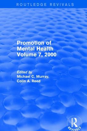 Promotion of Mental Health: Volume 7, 2000, 1st Edition (Hardback) book cover