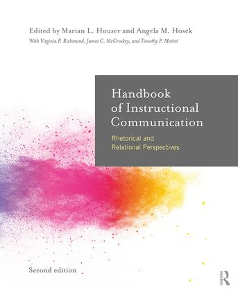 Handbook of Instructional Communication: Rhetorical and Relational Perspectives book cover