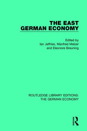 The East German Economy book cover