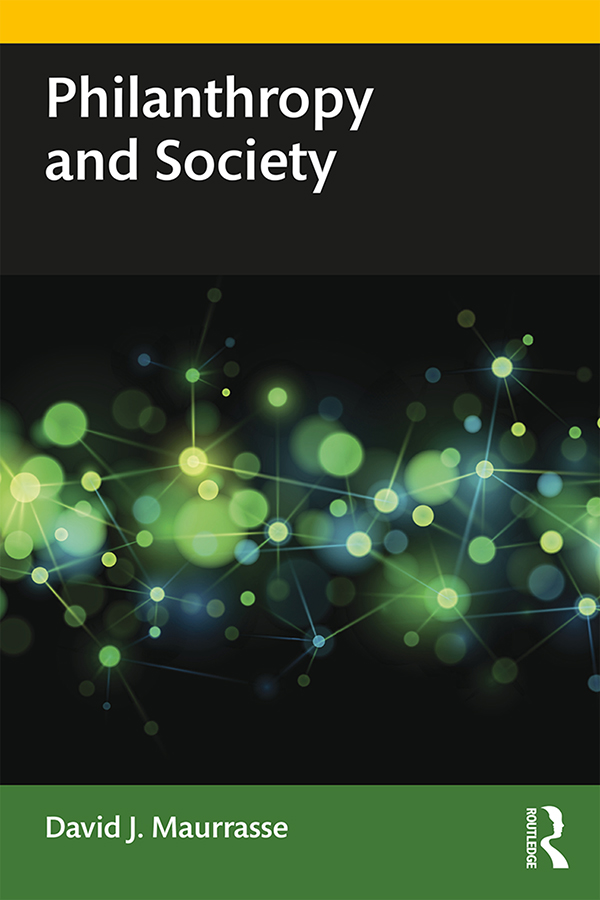 Philanthropy and Society: 1st Edition (Paperback) book cover