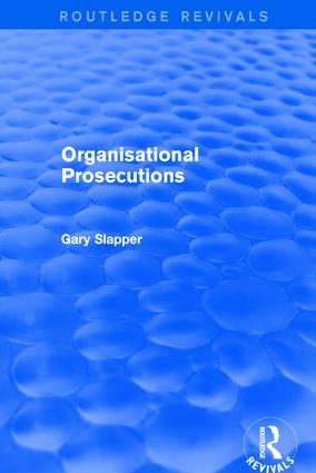 Organisational Prosecutions