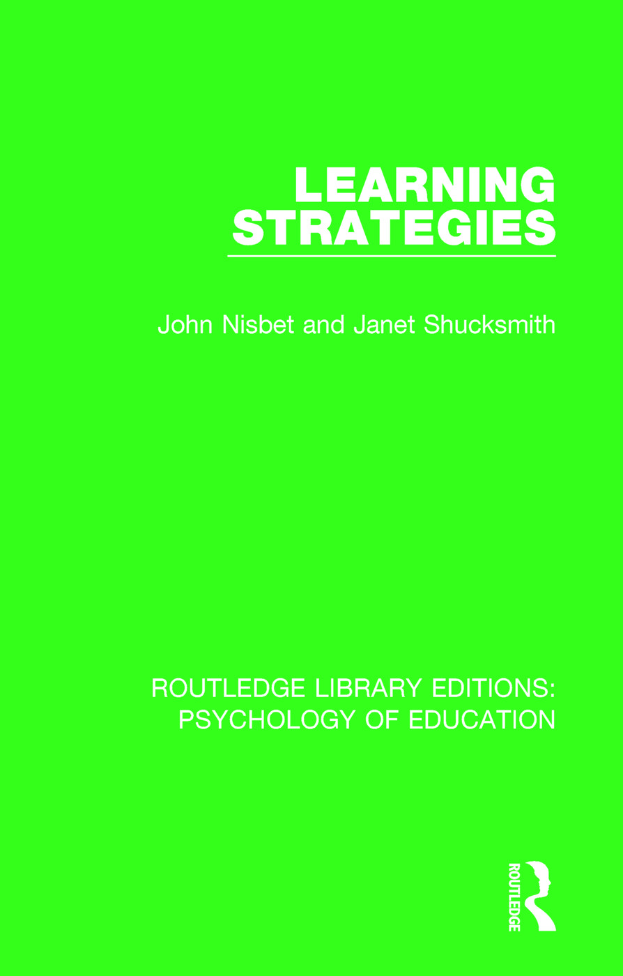 Learning Strategies: 1st Edition (Paperback) book cover