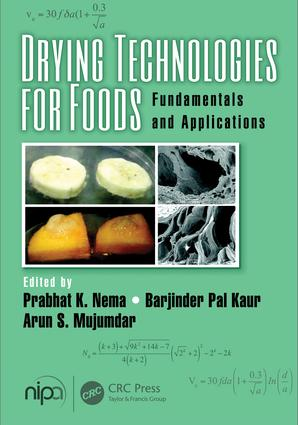 Drying Technologies for Foods: Fundamentals and Applications, 1st Edition (Hardback) book cover