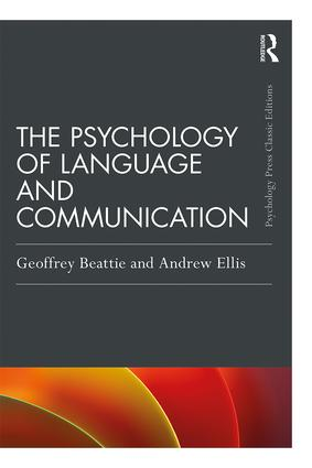The Psychology of Language and Communication: 1st Edition (Paperback) book cover