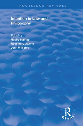 Intention in Law and Philosophy book cover