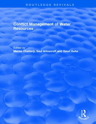 Conflict Management of Water Resources: 1st Edition (Hardback) book cover