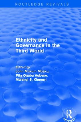 Ethnicity and Governance in the Third World: 1st Edition (Hardback) book cover