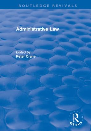 Administrative Law: 1st Edition (Hardback) book cover