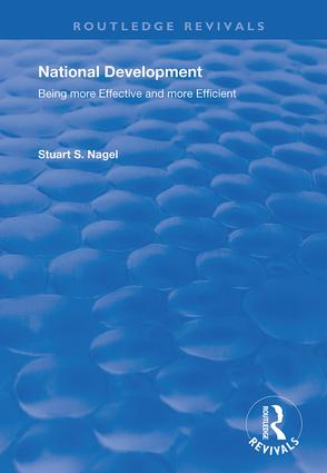 National Development: Being More Effective and More Efficient, 1st Edition (Hardback) book cover