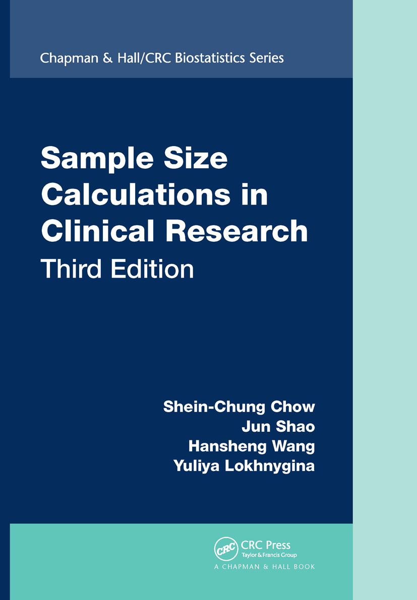 Sample Size Calculations in Clinical Research, Third Edition book cover