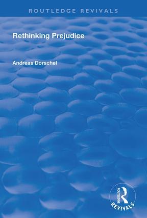 Rethinking Prejudice book cover