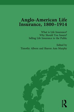 Anglo-American Life Insurance, 1800-1914 Volume 1: 1st Edition (Hardback) book cover
