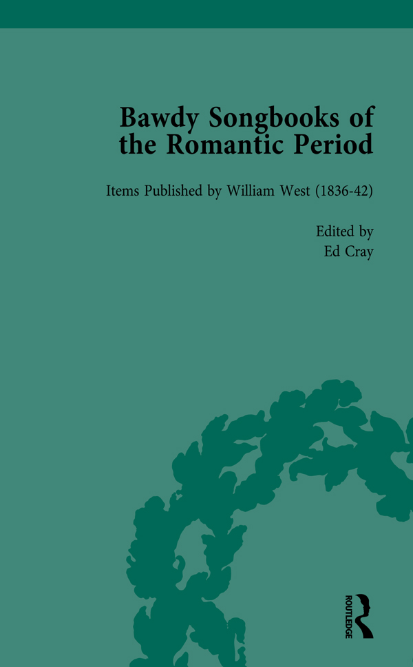 Bawdy Songbooks of the Romantic Period, Volume 2: 1st Edition (Hardback) book cover