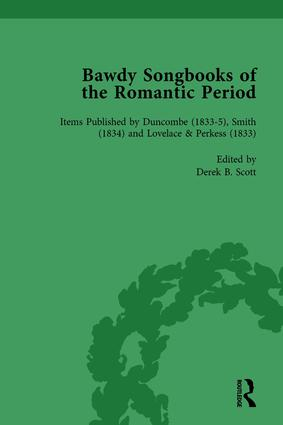 Bawdy Songbooks of the Romantic Period, Volume 4: 1st Edition (Hardback) book cover