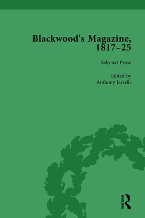 Blackwood's Magazine, 1817-25, Volume 2: Selections from Maga's Infancy, 1st Edition (Hardback) book cover