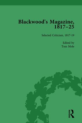 Blackwood's Magazine, 1817-25, Volume 5: Selections from Maga's Infancy, 1st Edition (Hardback) book cover