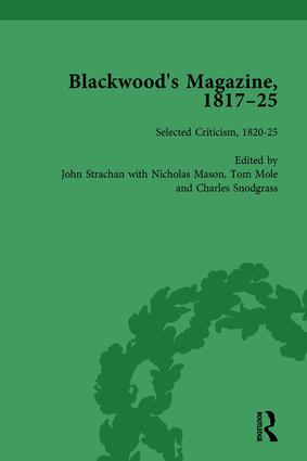 Blackwood's Magazine, 1817-25, Volume 6: Selections from Maga's Infancy, 1st Edition (Hardback) book cover