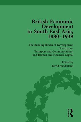 British Economic Development in South East Asia, 1880 - 1939, Volume 3: 1st Edition (e-Book) book cover