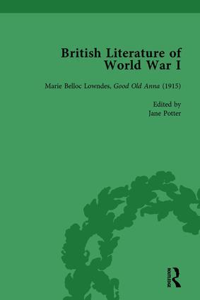 British Literature of World War I, Volume 3 book cover