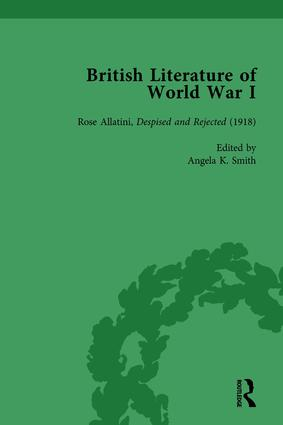 British Literature of World War I, Volume 4 book cover