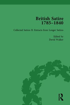 British Satire, 1785-1840, Volume 2: 1st Edition (Hardback) book cover